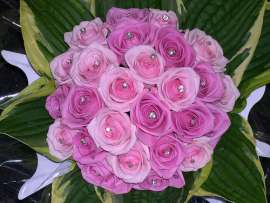 Булченски букет-розови рози