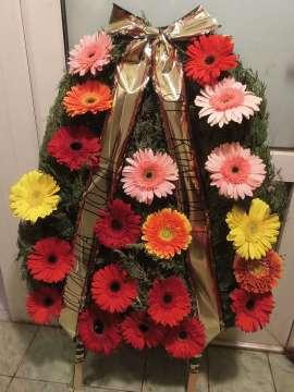 wreath with gerbera