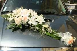 Букет за кола от рози и лилиум