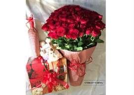 Букет 101 рози