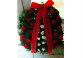Wreath with carnations