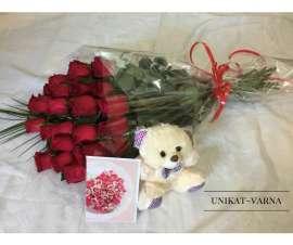 букет от рози 21 бр