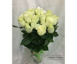 Букет бели рози 19 бр
