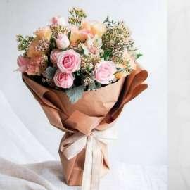 Букет- рози, лилиум